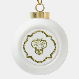 Trinity Dove Ceramic Ball Ornament