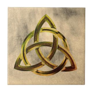 Trinity Knot Celtic Grunge Vintage Tile