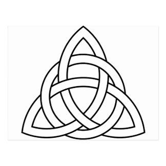 trinity knot celtic saxon viking norse nordic postcard