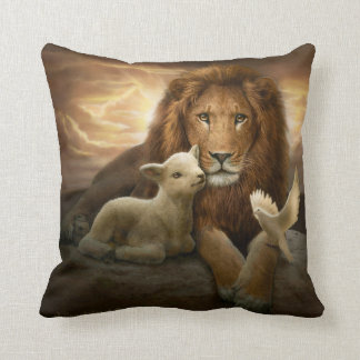 """""""Trinity of Peace"""" polyester throw pillow"""