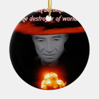Trinity Robert Oppenheimer Round Ceramic Ornament