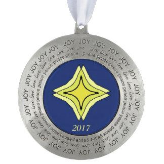 Trinity Star Pewter Ornament