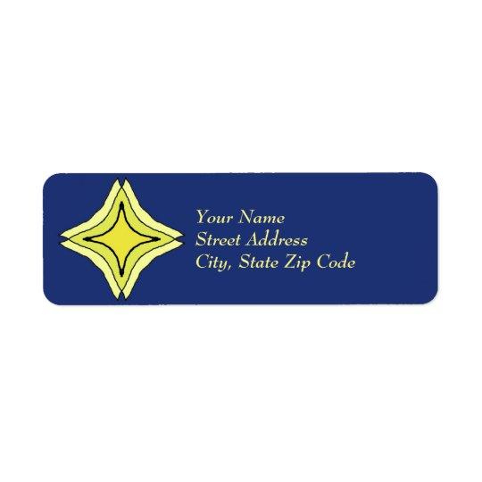 Trinity Star Return Address Label
