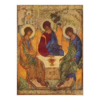 """Trinity with Angel Wings 5.5"""" X 7.5"""" Invitation Card"""