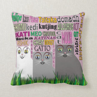 Trio Cats Pillow