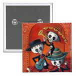 Trio de mariachi de Dia de Los Muertos Skeleton Macaron Carré 5 Cm