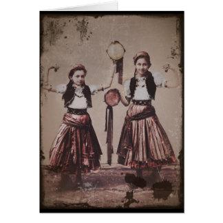 Trio Gypsy Children Card
