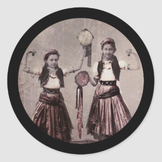 Trio Gypsy Children Classic Round Sticker