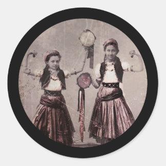 Trio Gypsy Children Round Sticker