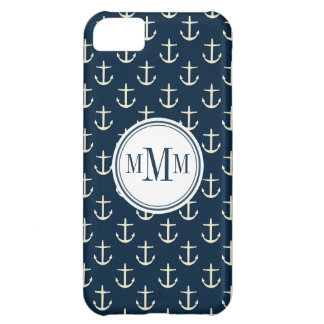 Trio Monogram Anchor Pattern iPhone 5C Case