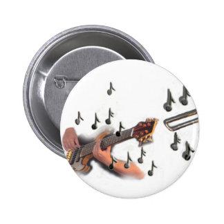 Trio, musicians , abstract guitar, trombone, sax, 2 inch round button