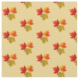 Trio of Autumn Leaves Fabric