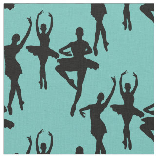 Trio of Ballet Dancers on Light Green Fabric