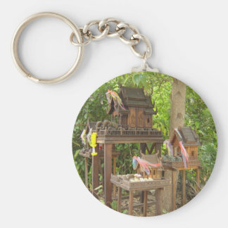 Trio of Birdhouses Key Chain