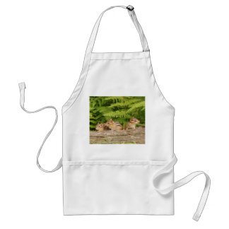 Trio of Curious Baby Chipmunks Standard Apron