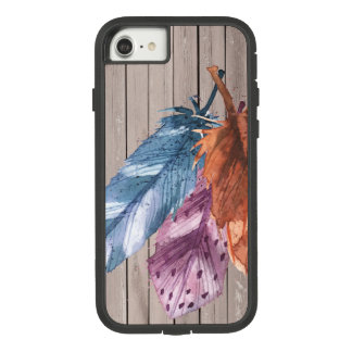 Trio of Feathers Blue Purple Brown Case-Mate Tough Extreme iPhone 8/7 Case
