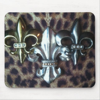Trio of Fleur de lis Mouse Pad