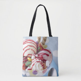 Trio of Ice Cream and Sweet Sundae Tote Bag