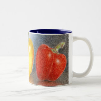 Trio of Peppers Art  Mug
