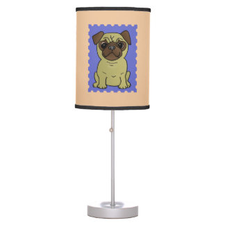 Trio Of Pugs Cute Colorful Lamp