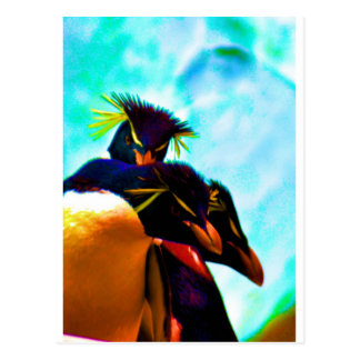 Trio of Rockhopper Penguins Postcard