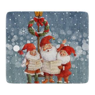 Trio of Singing Elves Cutting Board