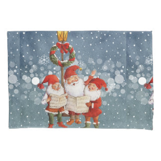Trio of Singing Elves Pillowcase