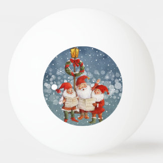 Trio of Singing Elves Ping Pong Ball