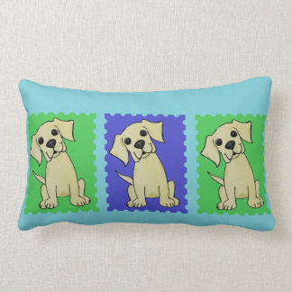 Trio Of Yellow Labs Colorful Cute Pillow