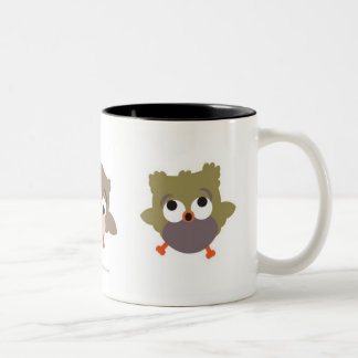 Trio Owls Two-Tone Coffee Mug