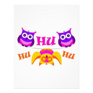 Triolium - owl party letterhead