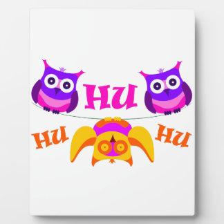 Triolium - owl party plaque