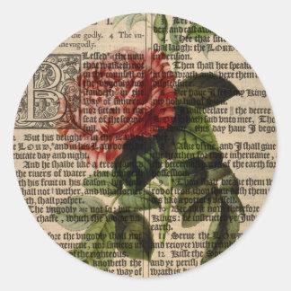Triomphe de Valenciennes Flower Classic Round Sticker