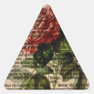 Triomphe de Valenciennes Flower Triangle Sticker