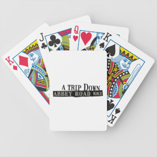 Trip Down Abbey Road Bicycle Playing Cards