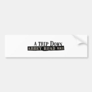 Trip Down Abbey Road Bumper Sticker