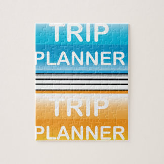 Trip Planner Button Glossy vector Puzzles