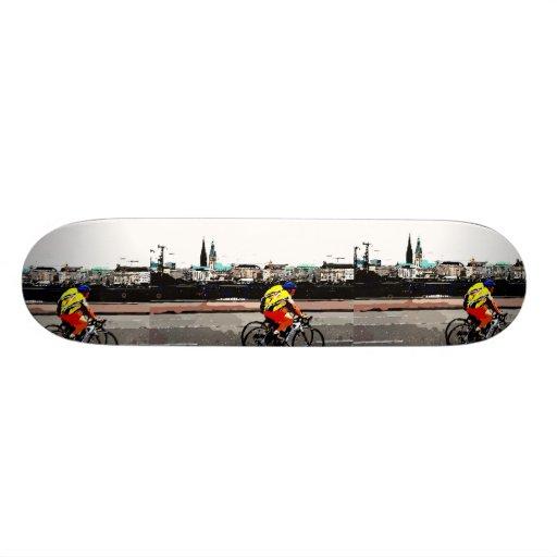 Trip to Hamburg Custom Skate Board