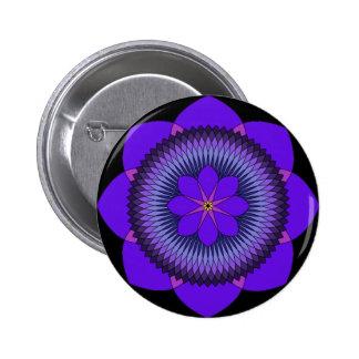Tripartite 80 Petal Purple Lotus Pin