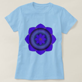 Tripartite 80 Petal Purple Lotus T-Shirt