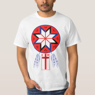 Tripartite Mi'Kmaq Forum Symbol and Flag T-Shirt