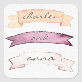 Triple banner Customizable Text Sticker