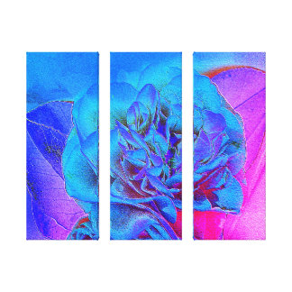Triple Canvas Print - Camellia Flower