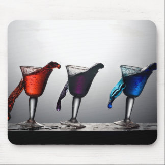 Triple Cocktail Spill 2 Mouse Pads