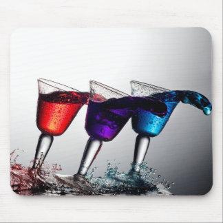 Triple Cocktail Spill Mousepads