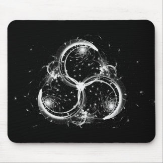 Triple Crescent Moons Mouse Pad