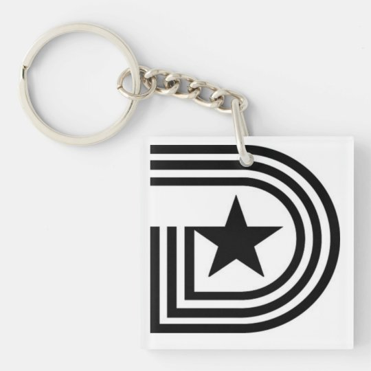 Triple D (Dallas, Texas) Double-Sided Square Acrylic Keychain