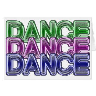 Triple Dance Neon Bling BLANK Note Card