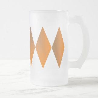 Triple Diamond 16 Oz Frosted Glass Beer Mug