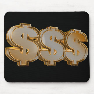 Triple Dollar Signs Mousepad